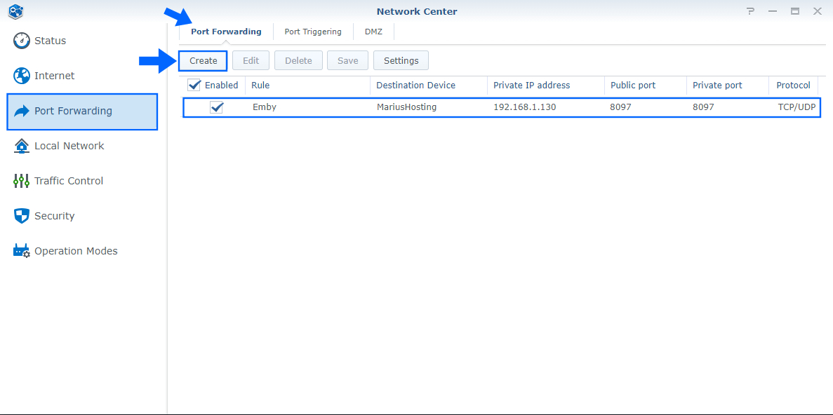 4 Synology Docker allow Emby to work over an https connection