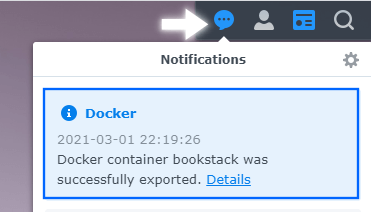 4 Synology NAS backup Docker Container