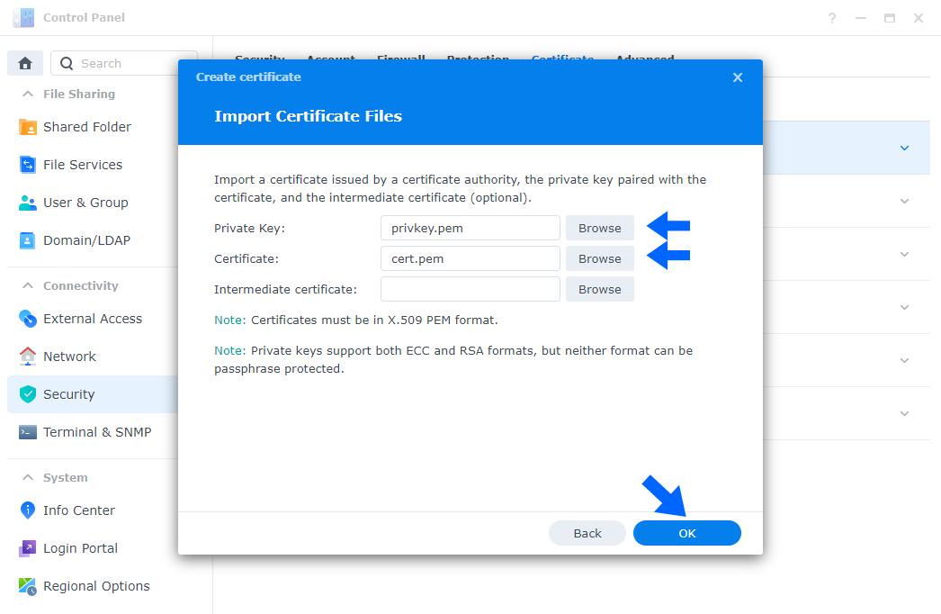 5 synology.com default certificate