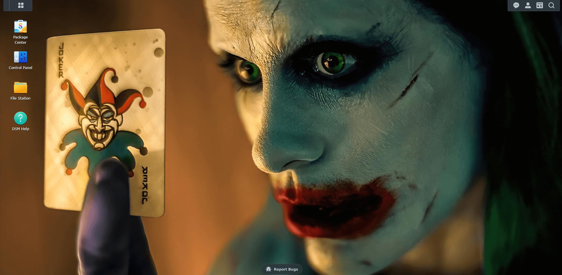 Joker wallpaper Synology DSM 7