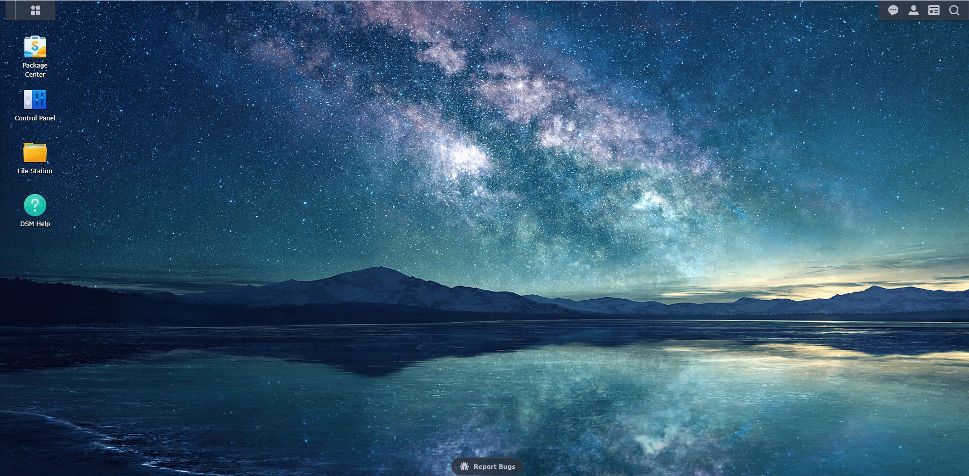 Milky Way wallpaper Synology DSM 7