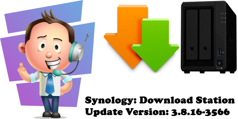 Synology Download Station Update Version 3.8.16-3566