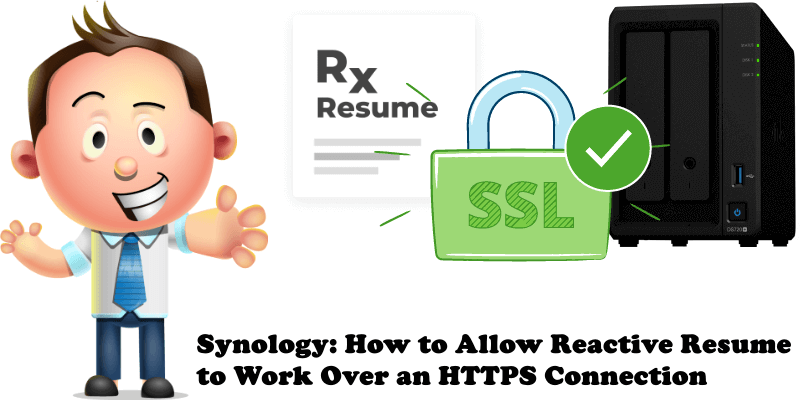 Synology How to Allow Reactive Resume to Work Over an HTTPS Connection