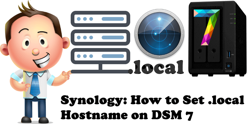 Synology How to Set .local Hostname on DSM 7