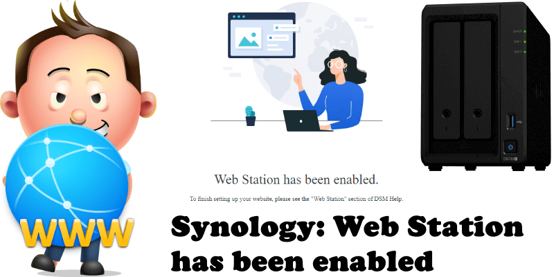 Synology Web Station has been enabled