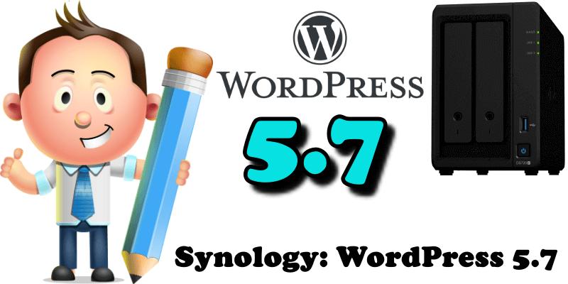 Synology WordPress 5.7