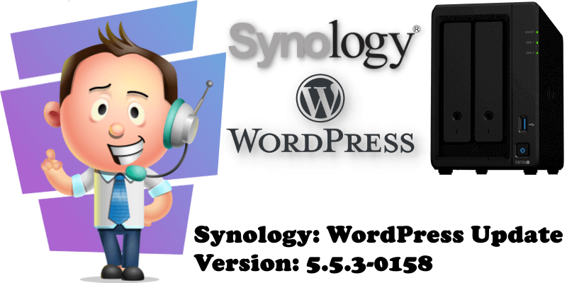 Synology WordPress Update Version 5.5.3-0158