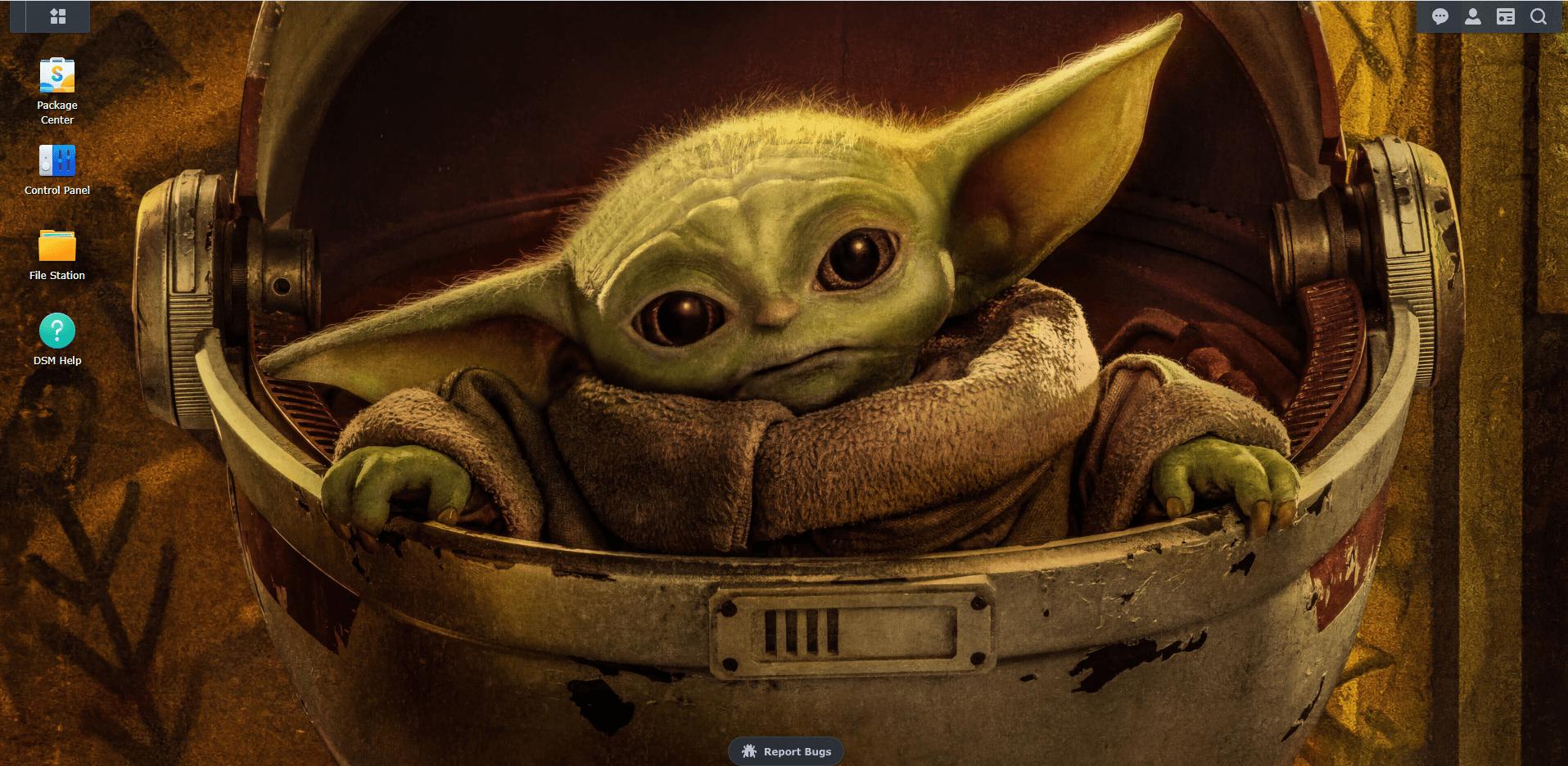 Yoda wallpaper Synology DSM 7