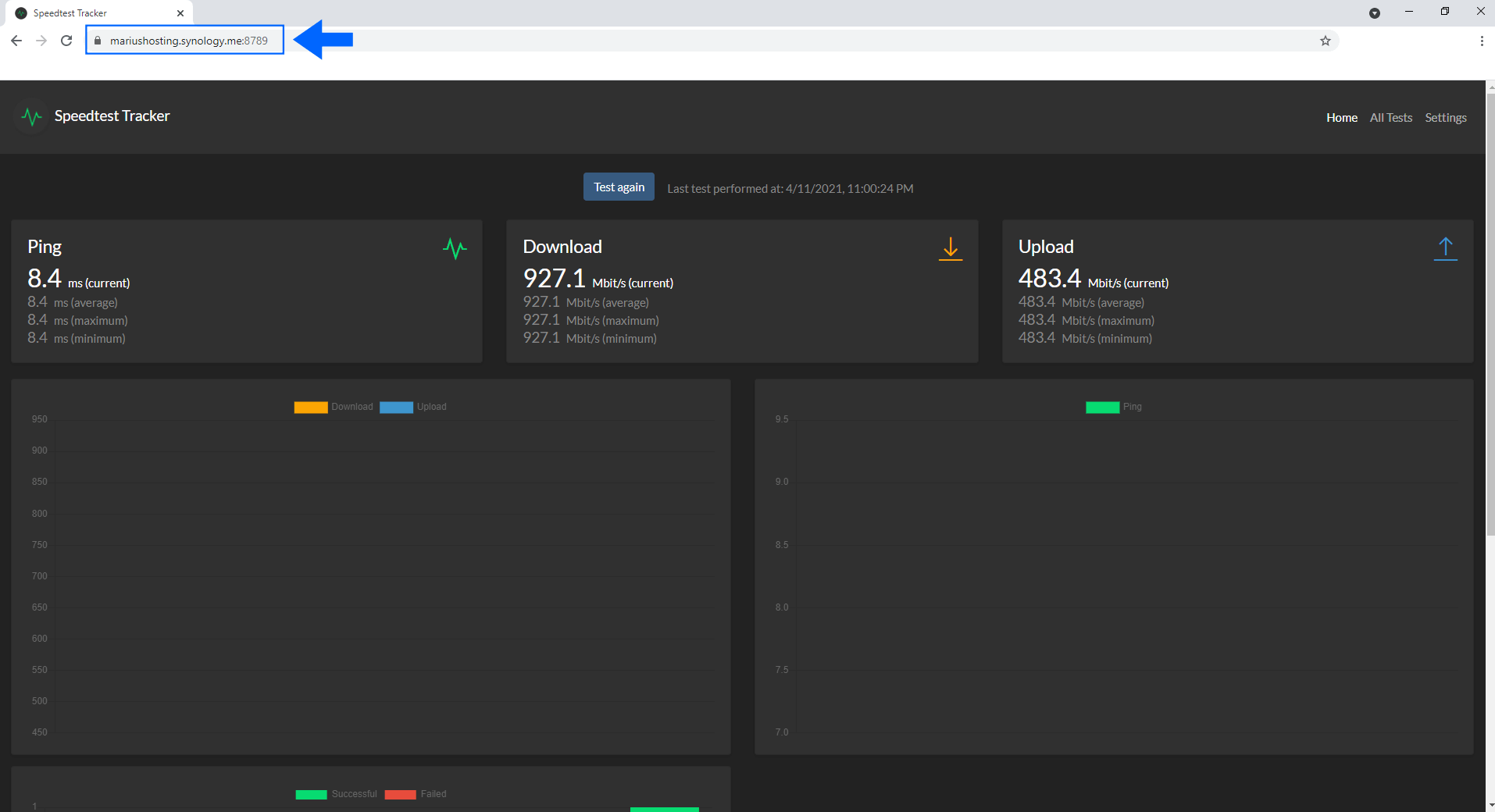 5 Synology Docker allow Speedtest Tracker to work over an https connection
