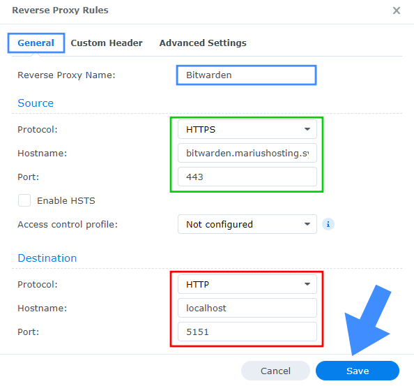 Docker Container CNAME Synology NAS 8