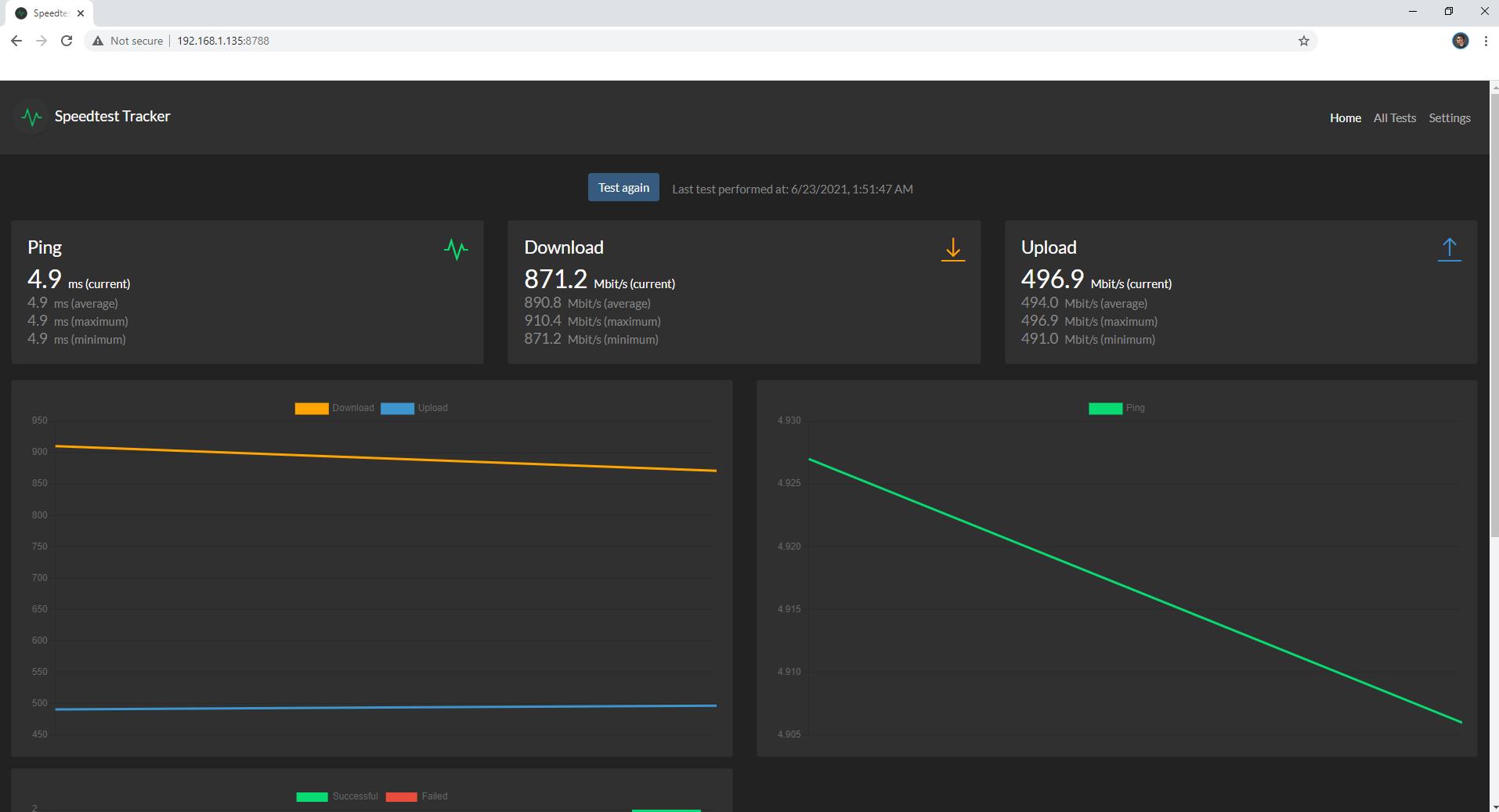 Speedtest Tracker Synology NAS Set up 7