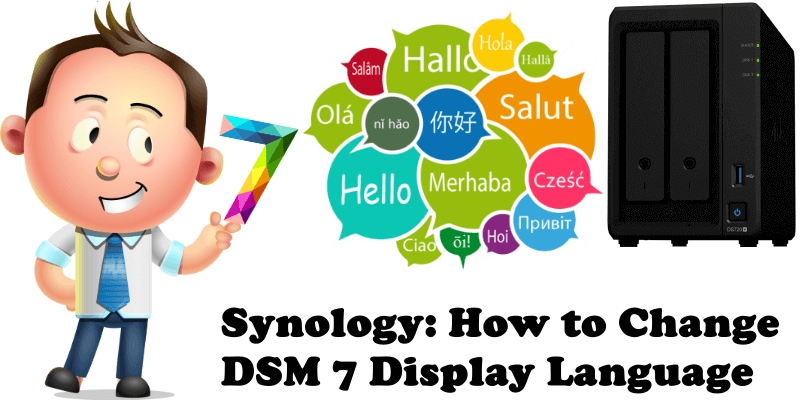 Synology How to Change DSM 7 Display Language