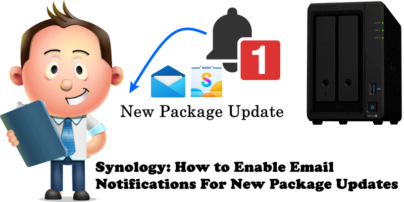 Synology How to Enable Email Notifications For New Package Updates