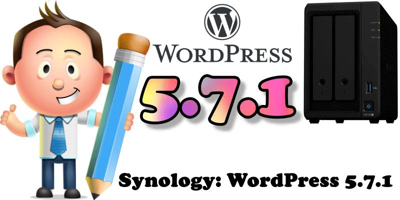 Synology WordPress 5.7.1