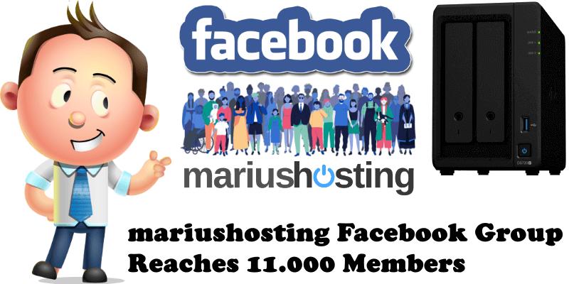 mariushosting Facebook Group Reaches 11.000 Members