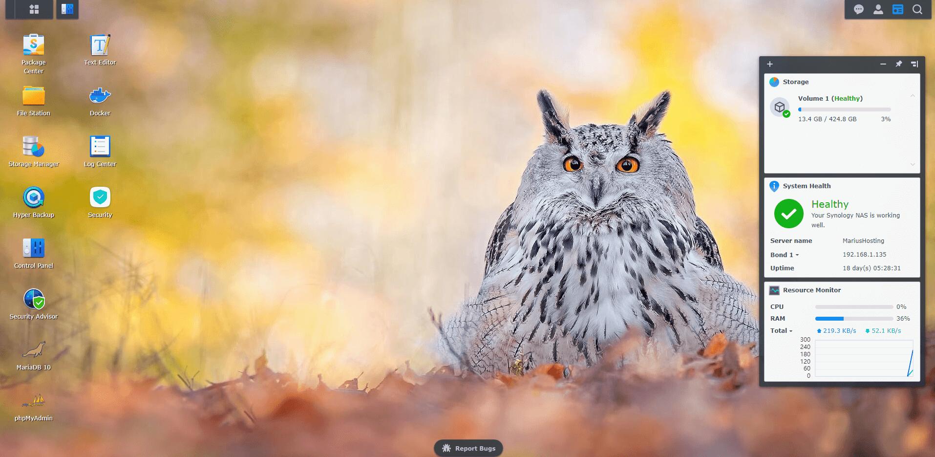 1 Synology Owl Wallpaper