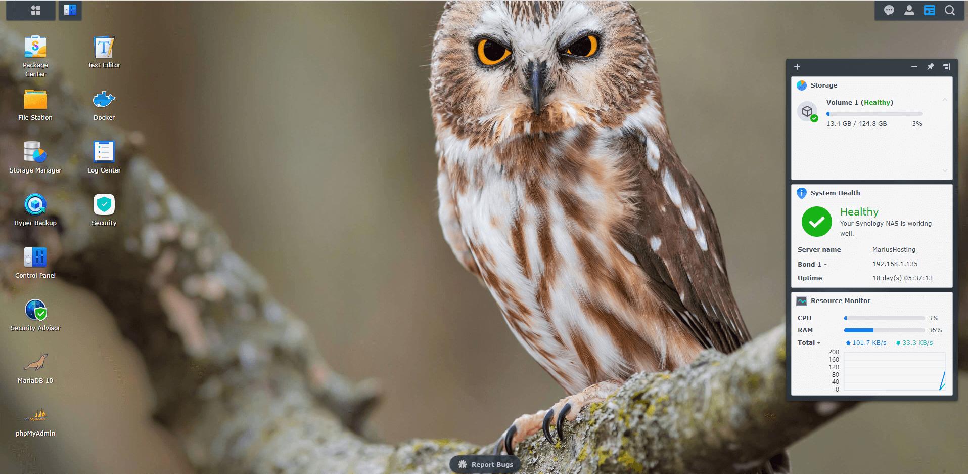 14 Synology Owl Wallpaper