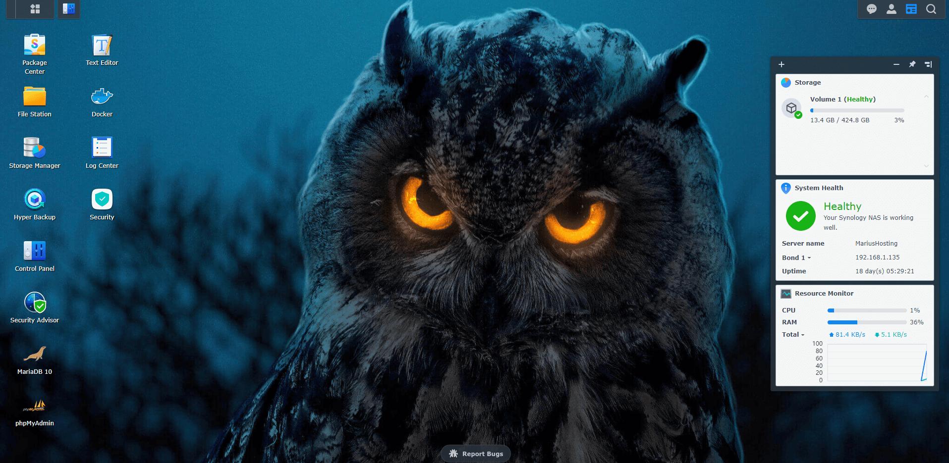 2 Synology Owl Wallpaper