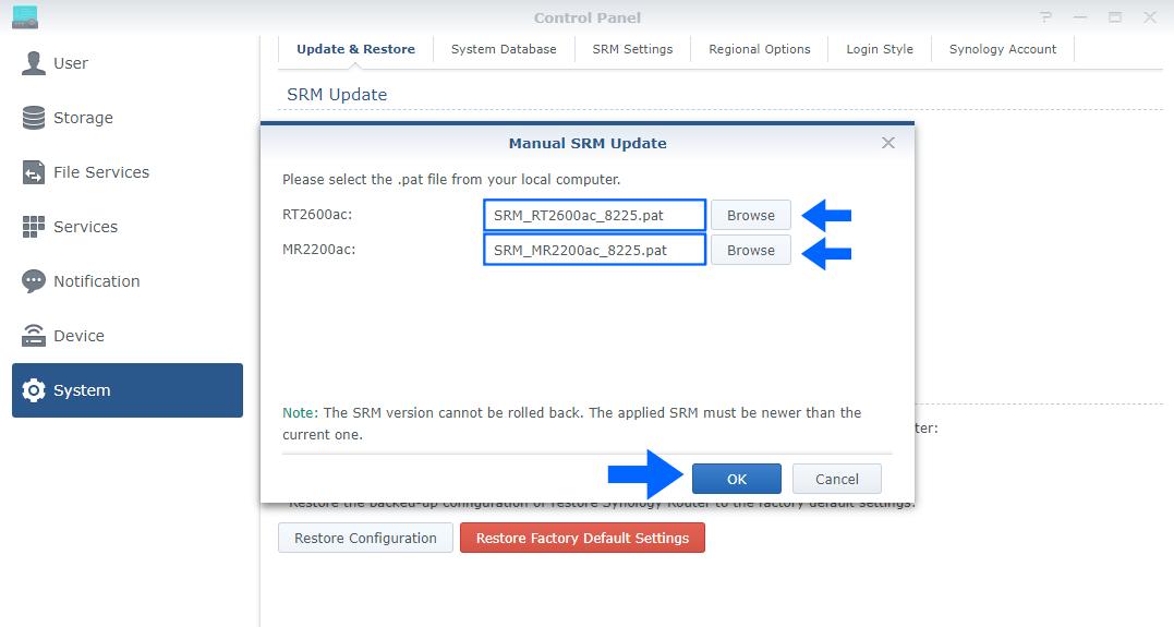 2 Synology SRM Version 1.2.5-8225