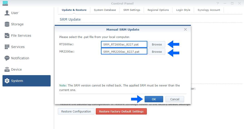 2 Synology SRM Version 1.2.5-8227