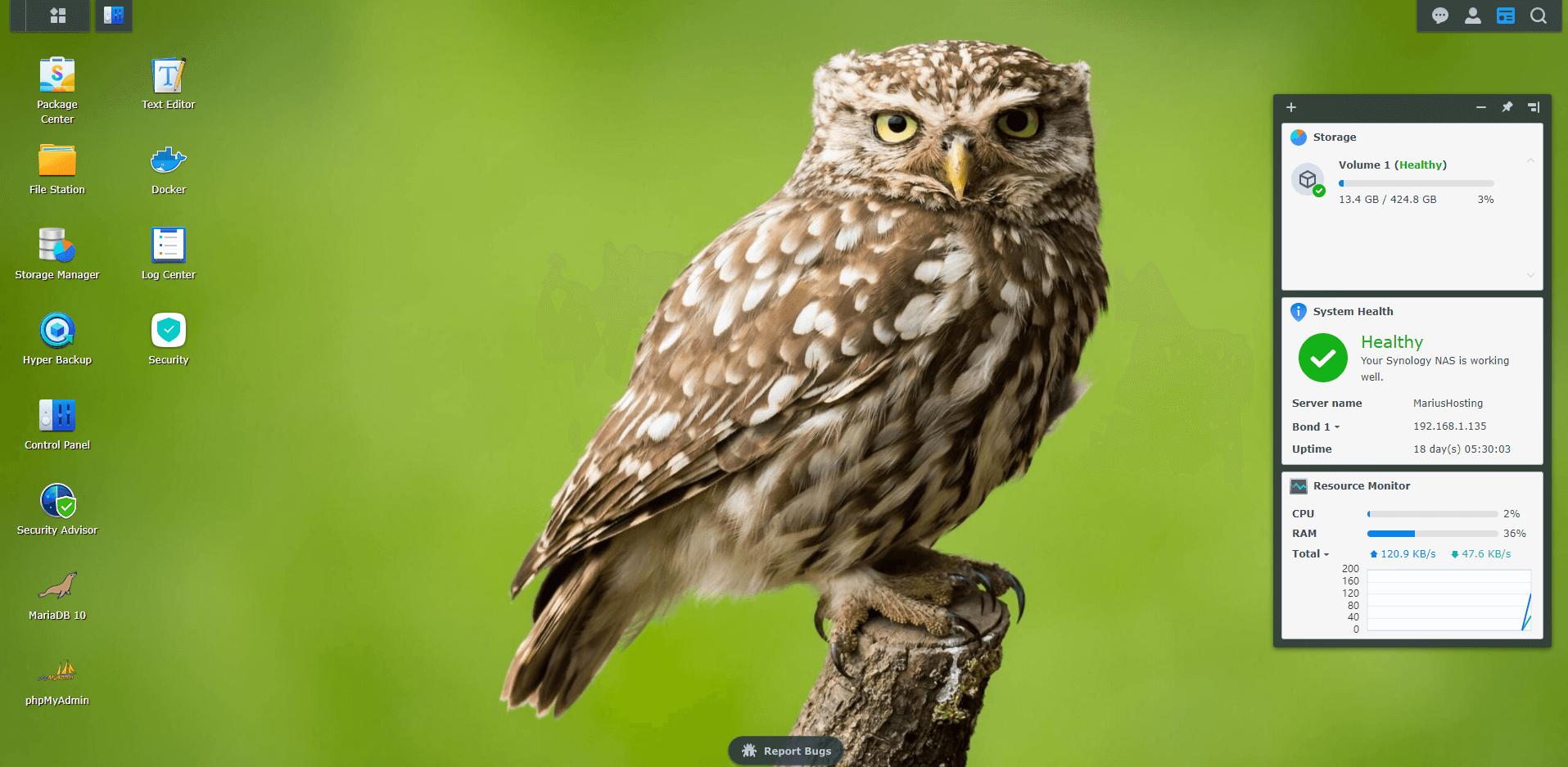 3 Synology Owl Wallpaper