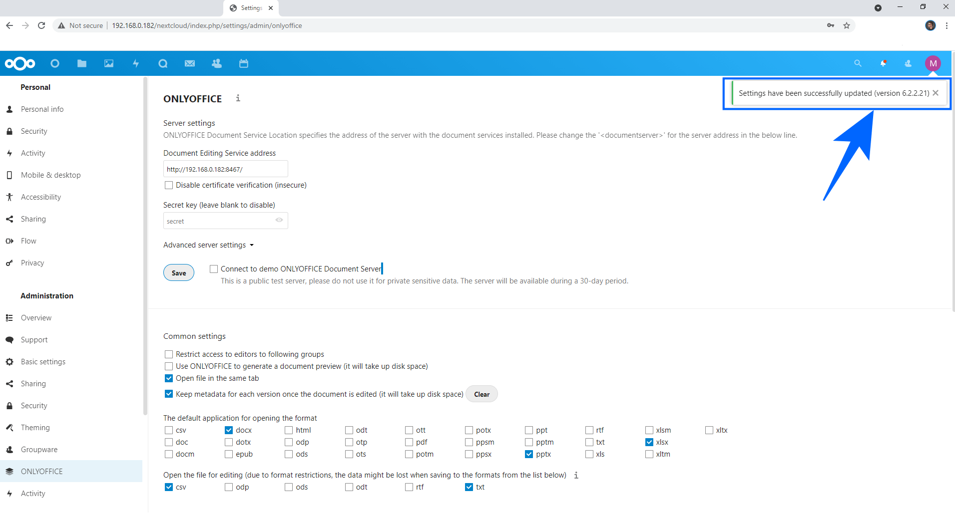 5 Nextcloud OnlyOffice Set Up Synology NAS