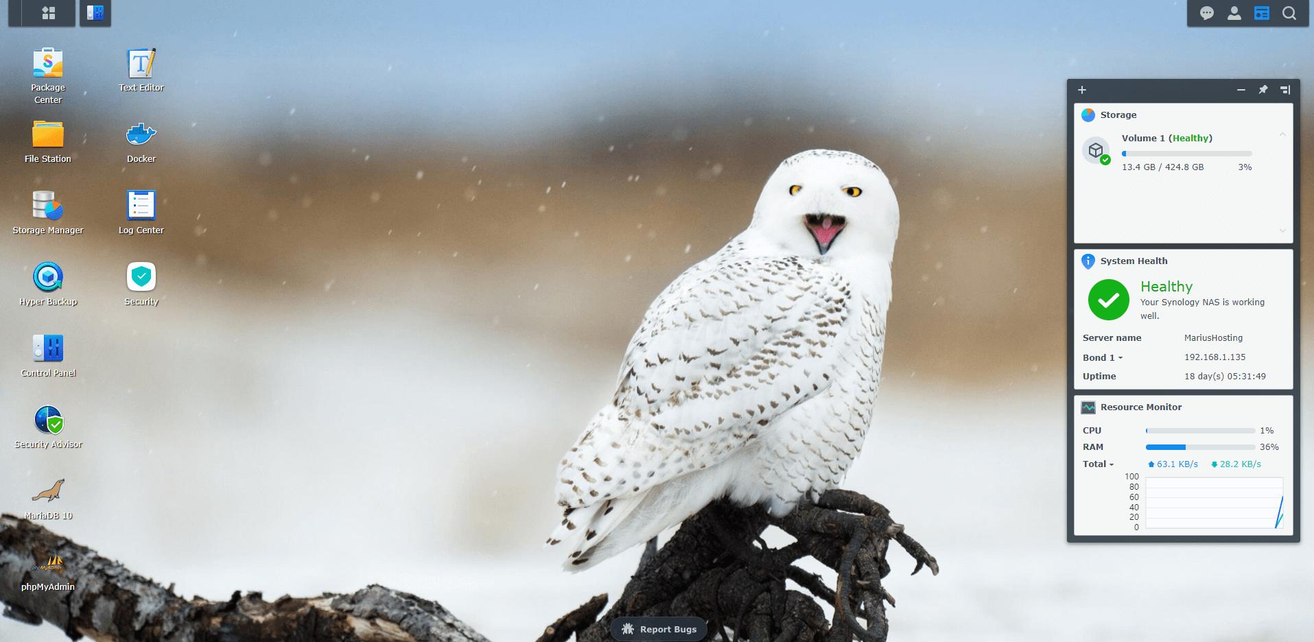 6 Synology Owl Wallpaper