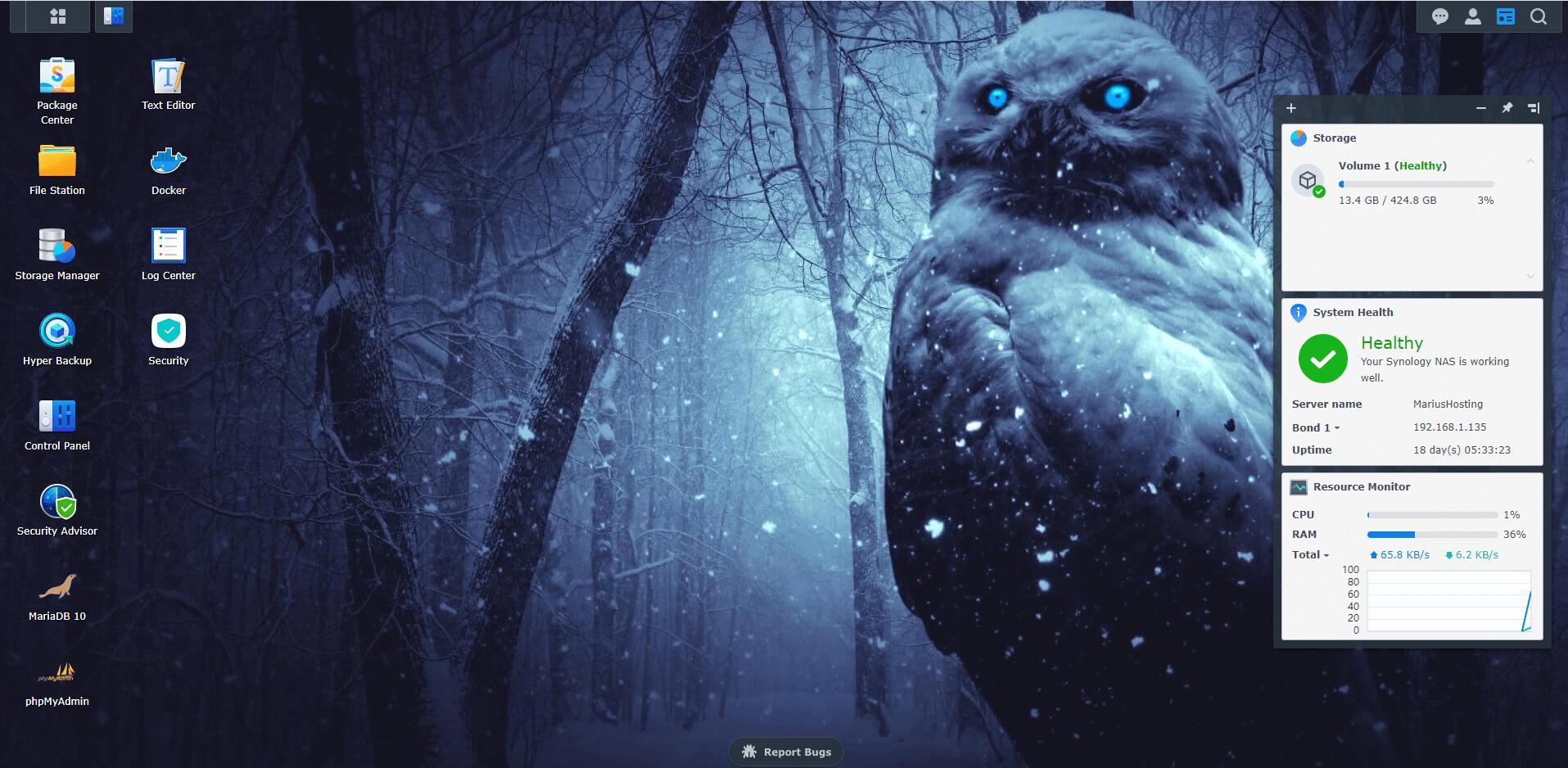 8 Synology Owl Wallpaper