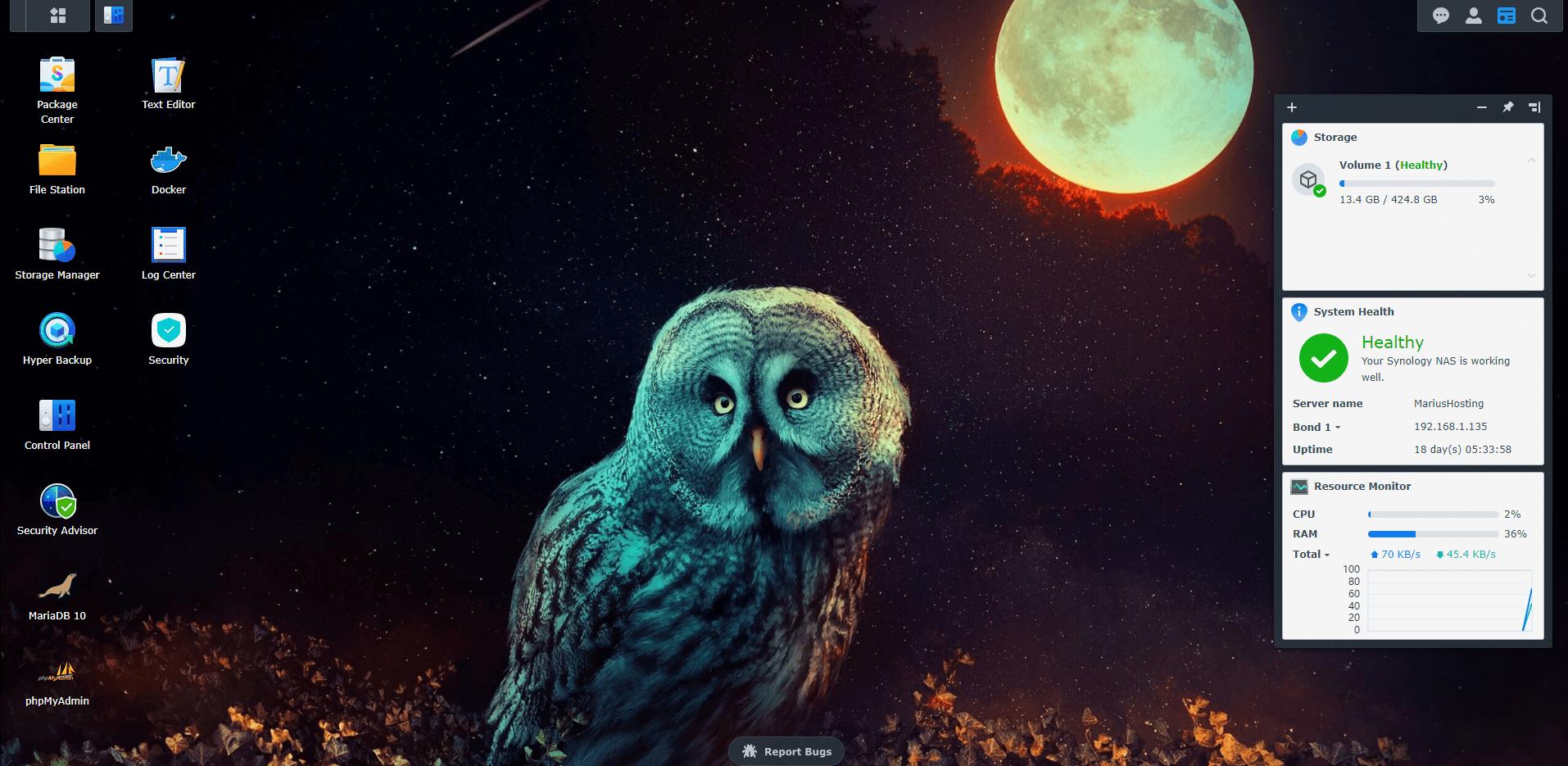 9 Synology Owl Wallpaper