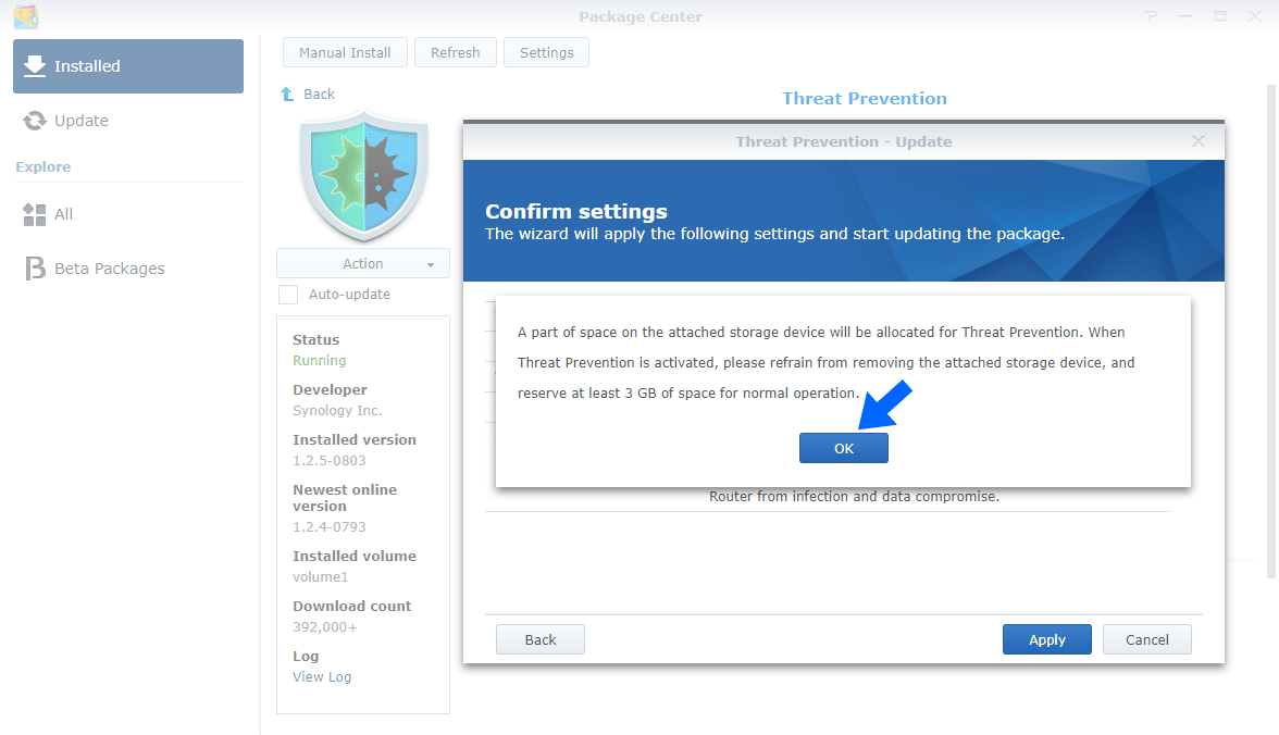 Synology Threat Prevention Update 3