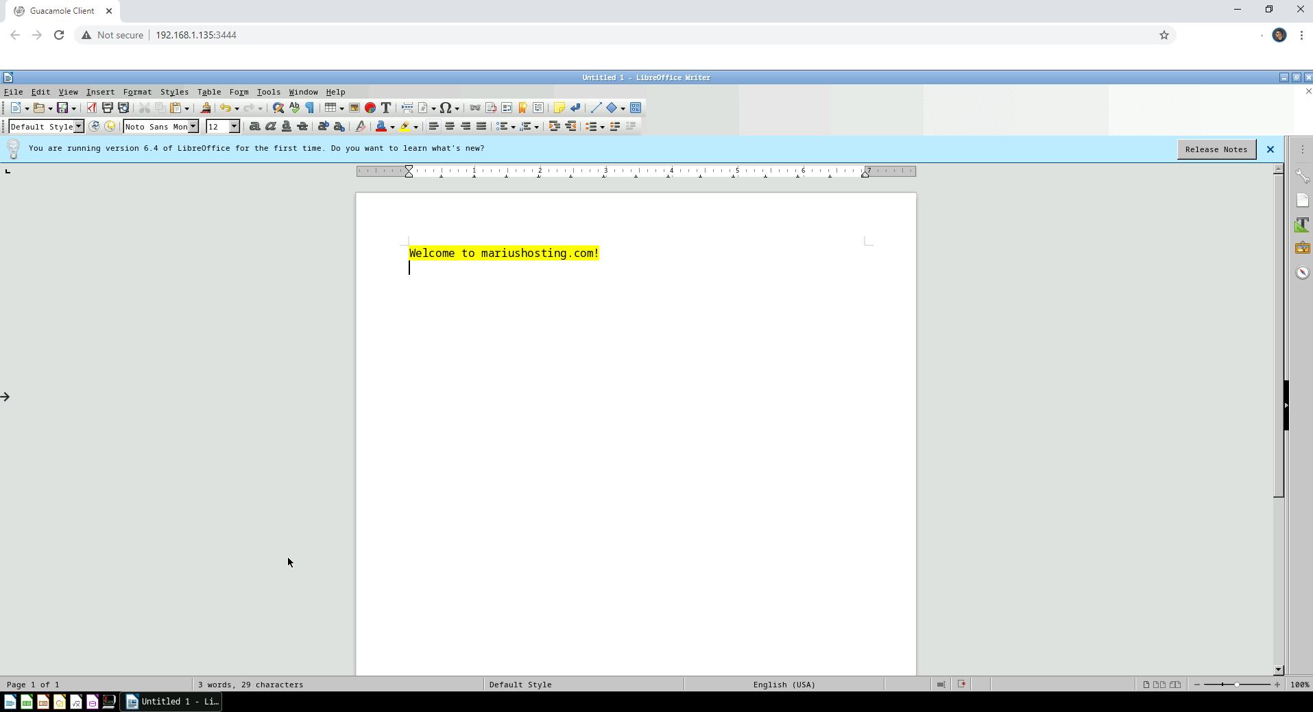 LibreOffice Synology NAS Set up 7
