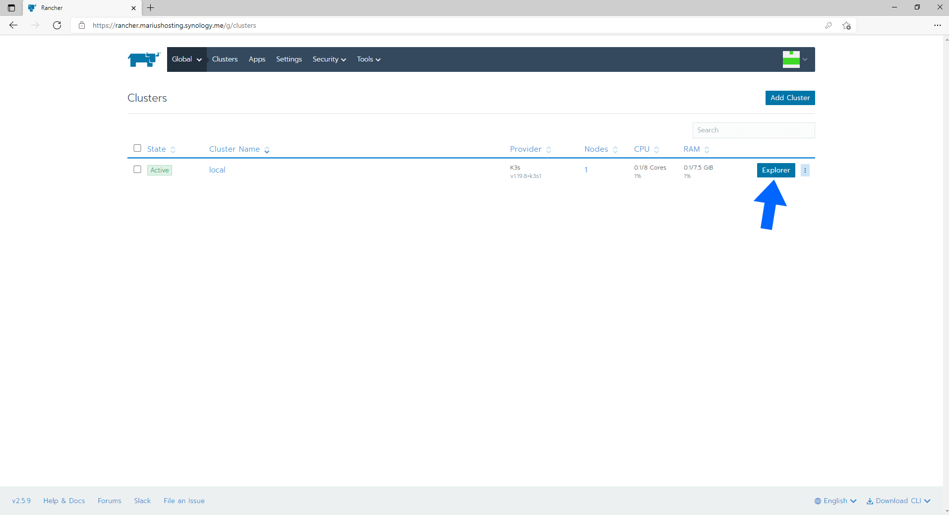 Rancher Synology NAS Set up 12