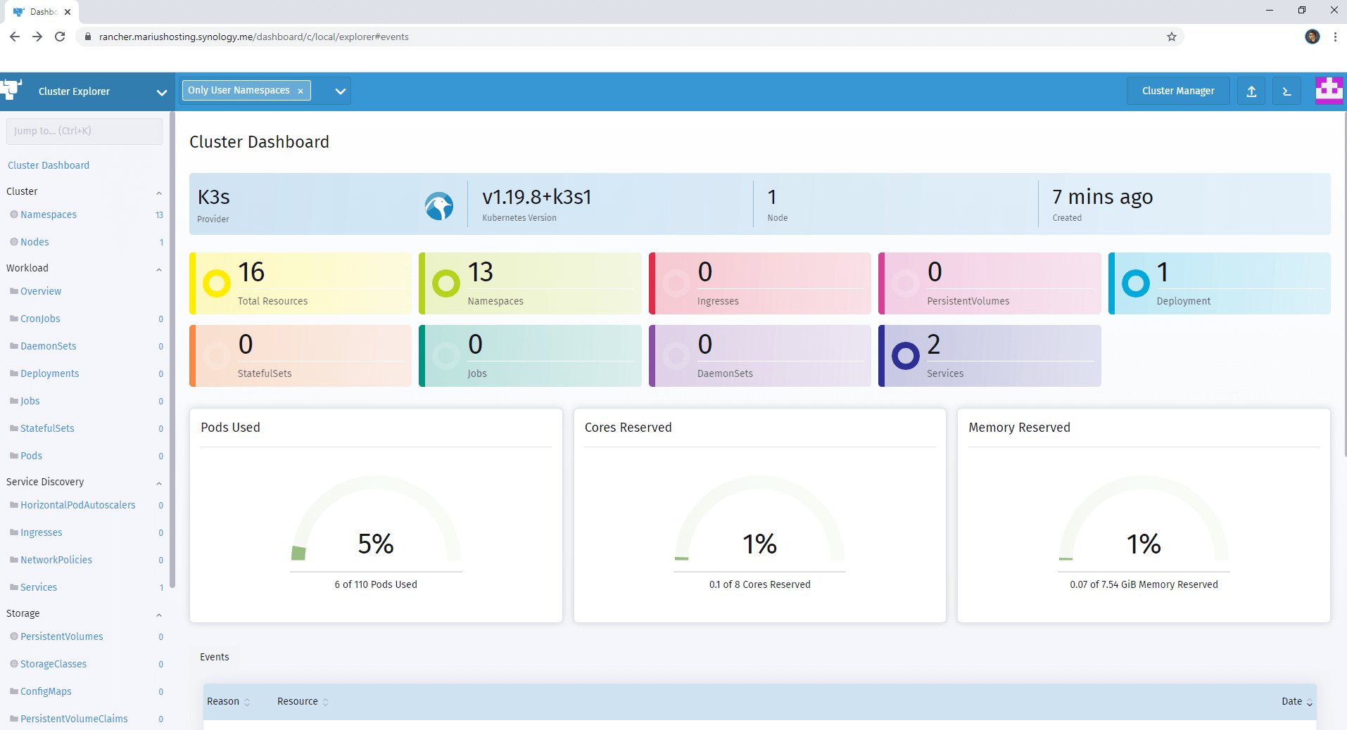 Rancher Synology NAS Set up 13