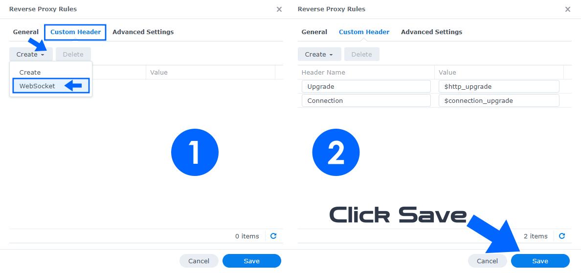 Synology Docker Reverse Proxy WebSocket