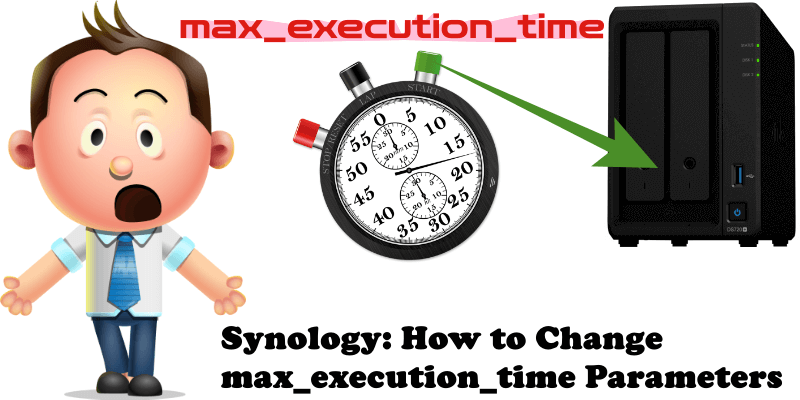 Synology How to Change max_execution_time Parameters