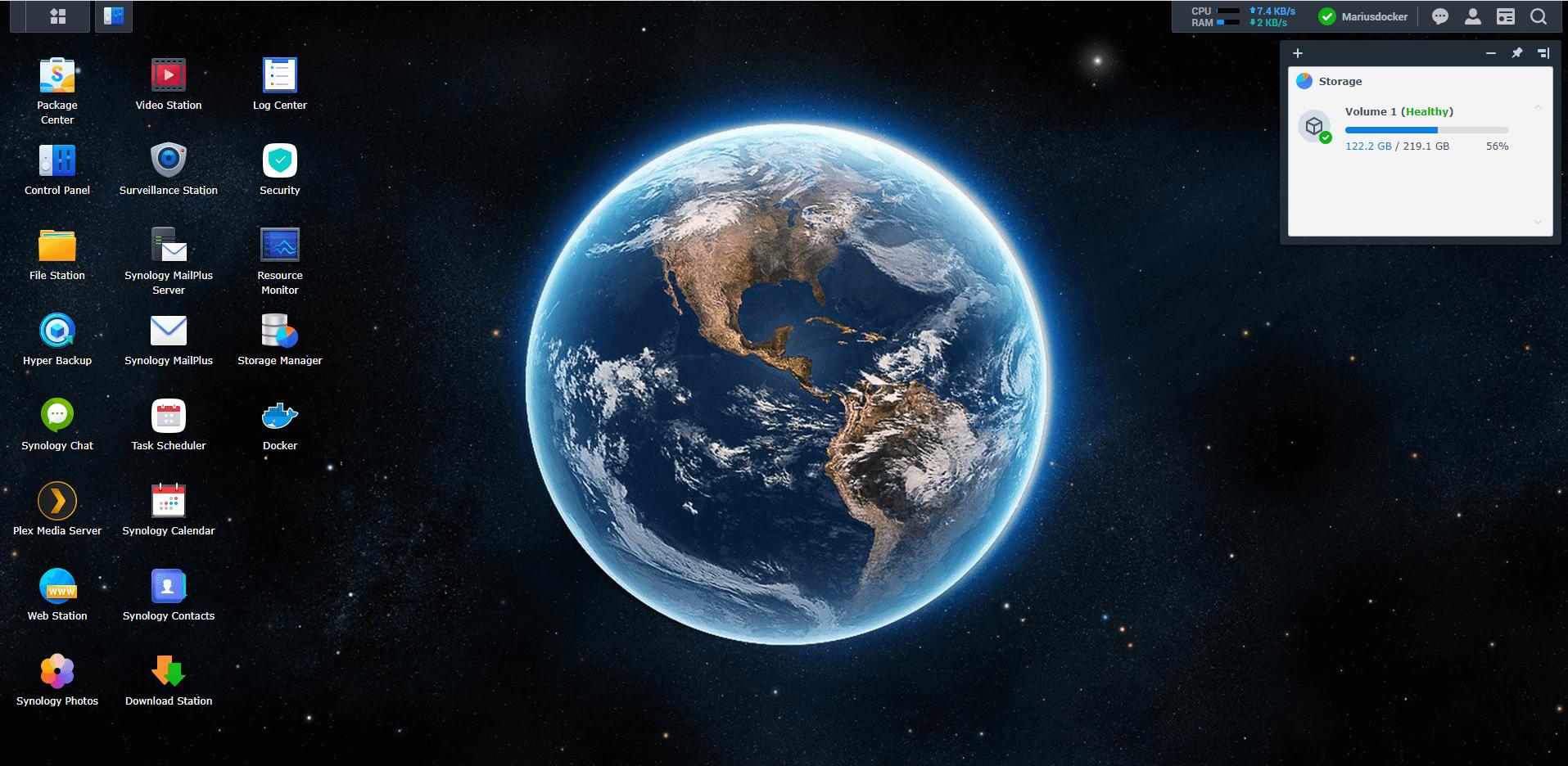 Synology NAS Earth Wallpaper 1