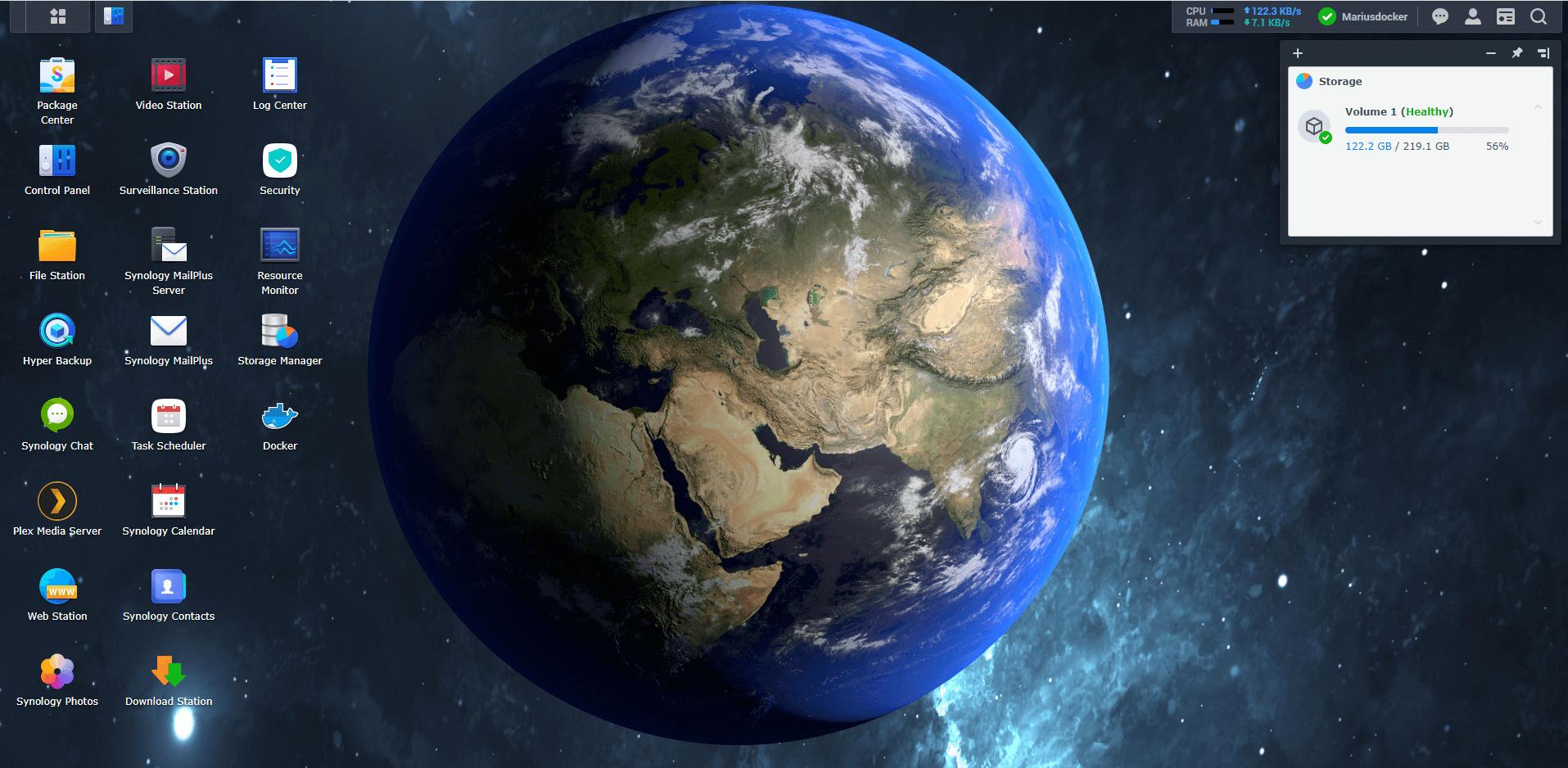 Synology NAS Earth Wallpaper 3