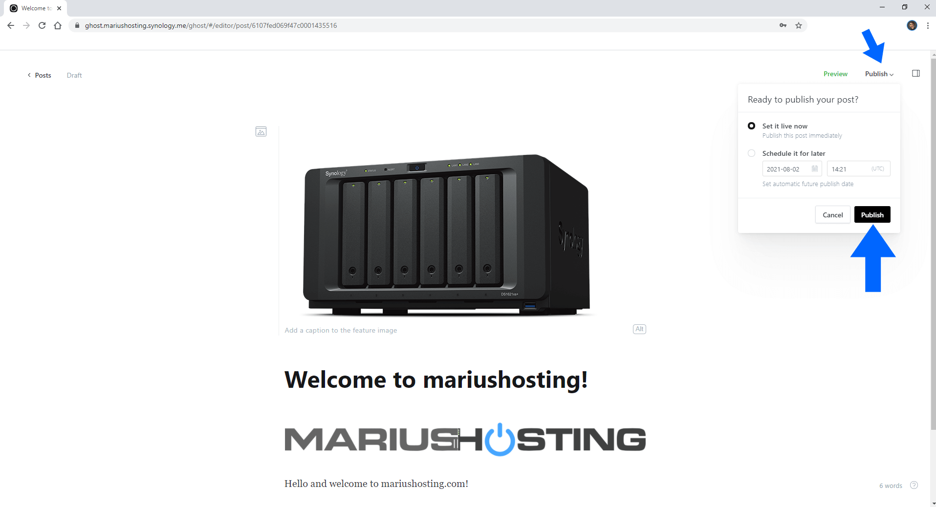 Ghost Synology NAS Set up 13