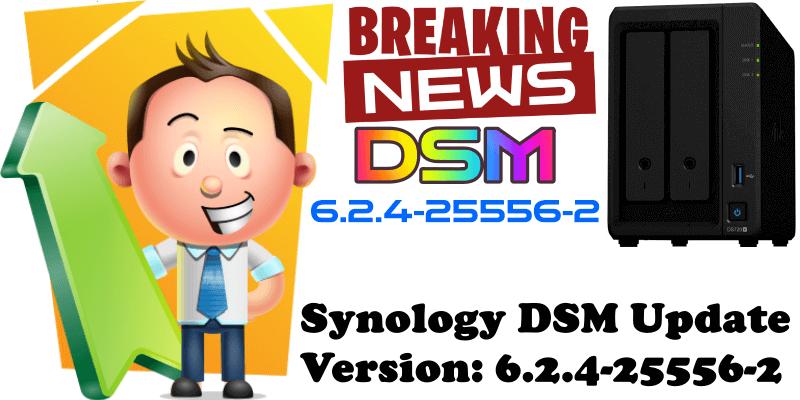 Synology DSM Update Version 6.2.4-25556