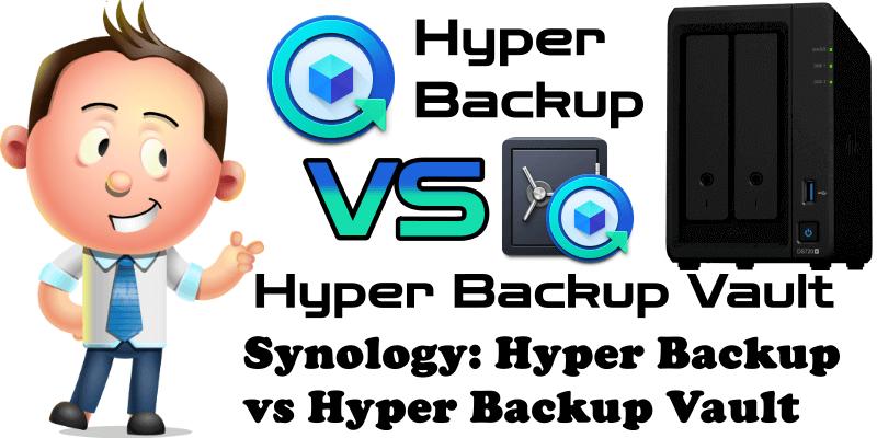 Synology Hyper Backup vs Hyper Backup Vault