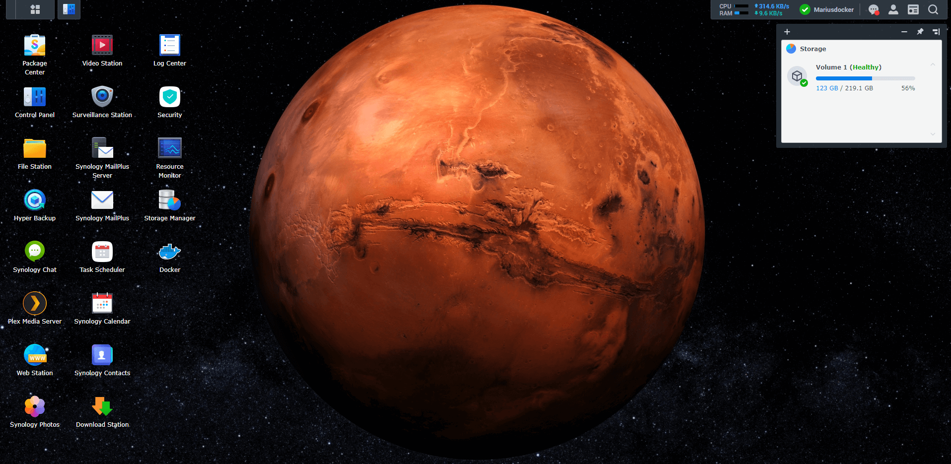 Synology NAS Mars Wallpaper 1