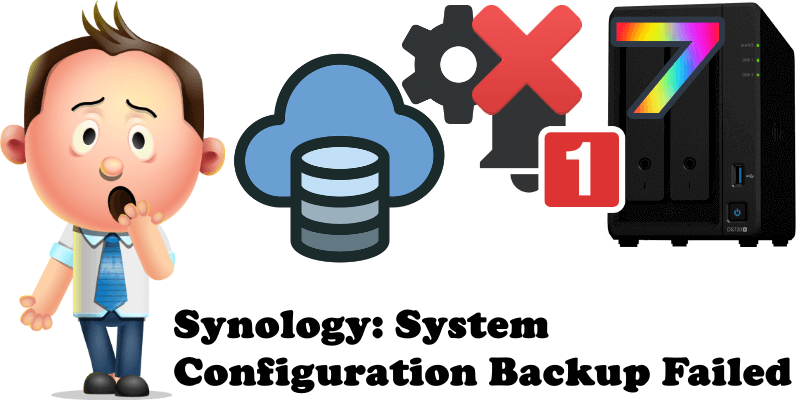 Synology System Configuration Backup Failed