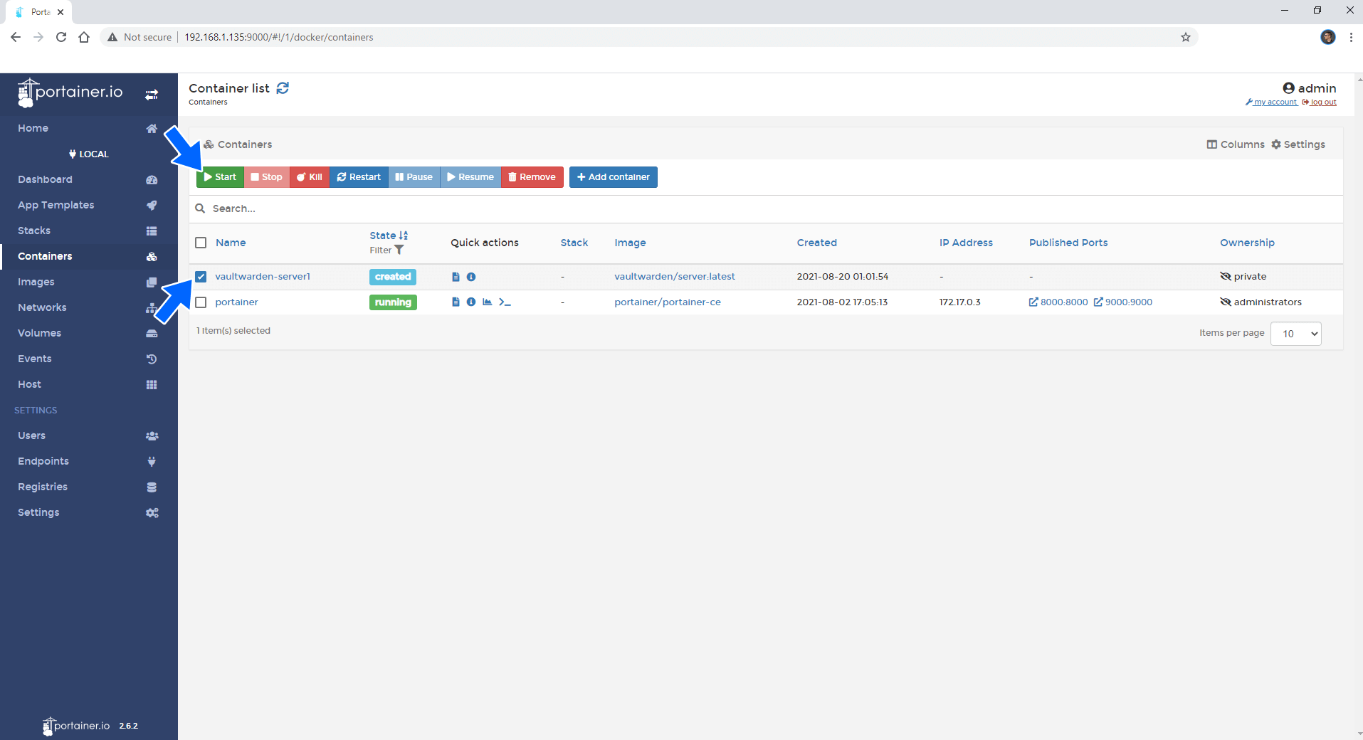 Synology update docker container using Portainer 6