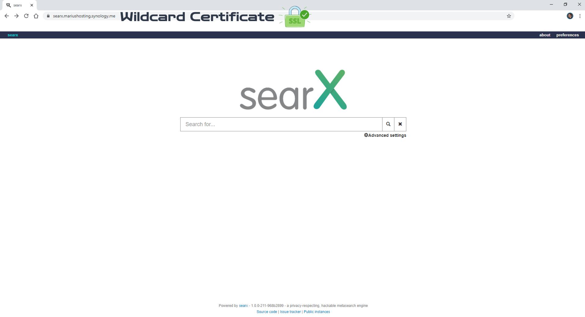 searX Synology NAS Set up 9
