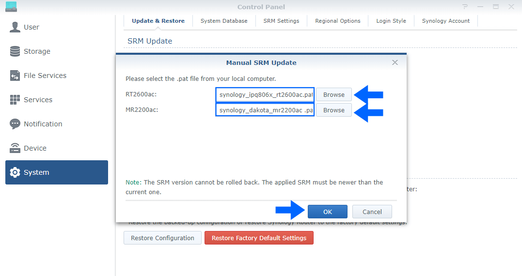 2 Synology SRM 1.2.5-8227 Update 1
