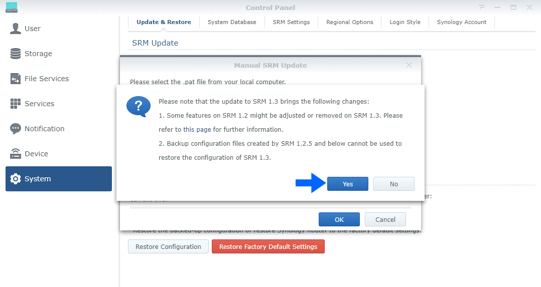 3 Synology SRM 1.2.5-8227 Update 1