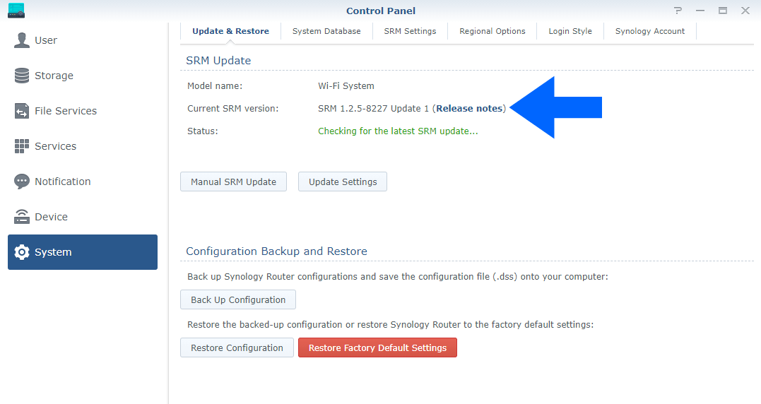 5 Synology SRM 1.2.5-8227 Update 1