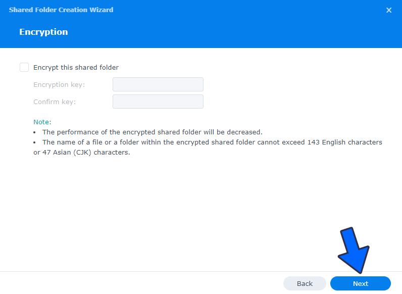 4 Create a Shared Folder on DSM 7
