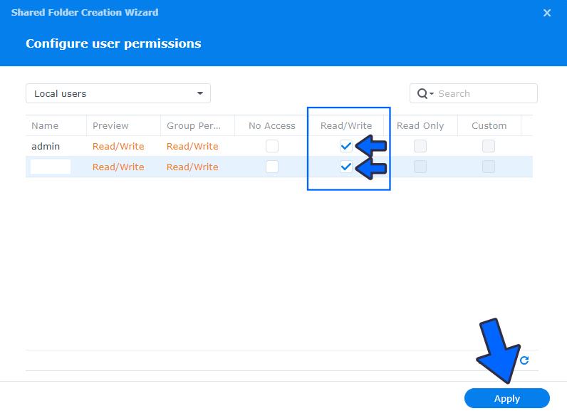 7 Create a Shared Folder on DSM 7