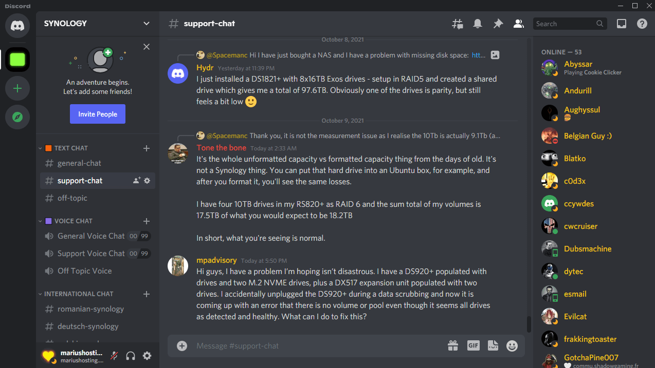Discord Synology 2021